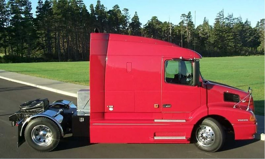 percent tractor trailer recall semi the sale trucks completion rare in reaches volvo for half usual time vnl