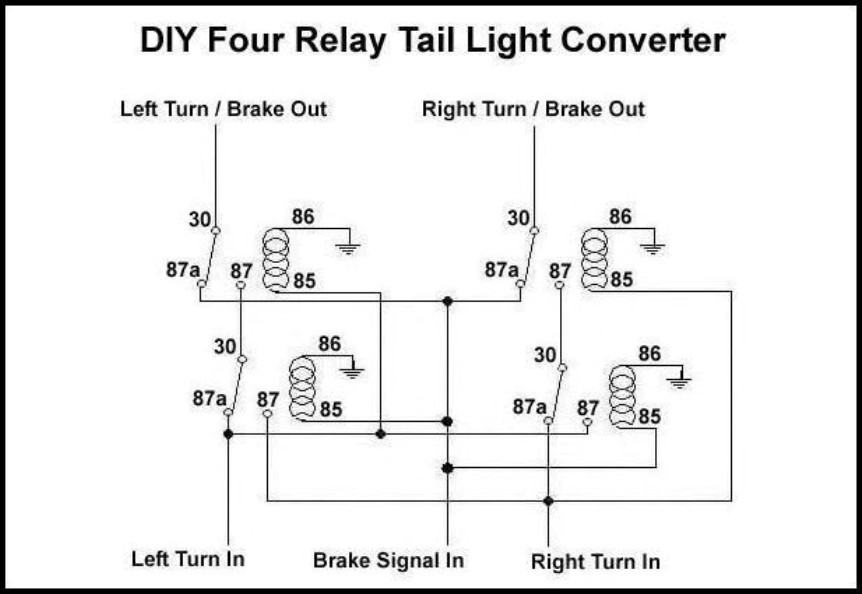 fourrelay tail light converters heavy haulers rv resource guide tail light converter wiring diagram at fashall.co